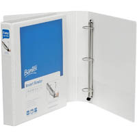 BANTEX PREMIUM PUSH LEVER INSERT RING BINDER 3R 25MM A4 WHITE