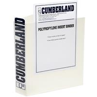 CUMBERLAND EARTHCARE INSERT RING BINDER 3D 40MM A4 WHITE