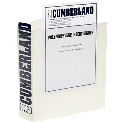 Image for CUMBERLAND EARTHCARE INSERT RING BINDER 3D 50MM A4 WHITE from Mackay Business Machines (MBM)
