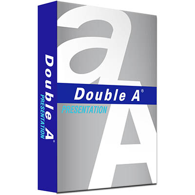 DOUBLE A A4 PRESENTATION COPY PAPER 100GSM WHITE PACK 500 SHEETS