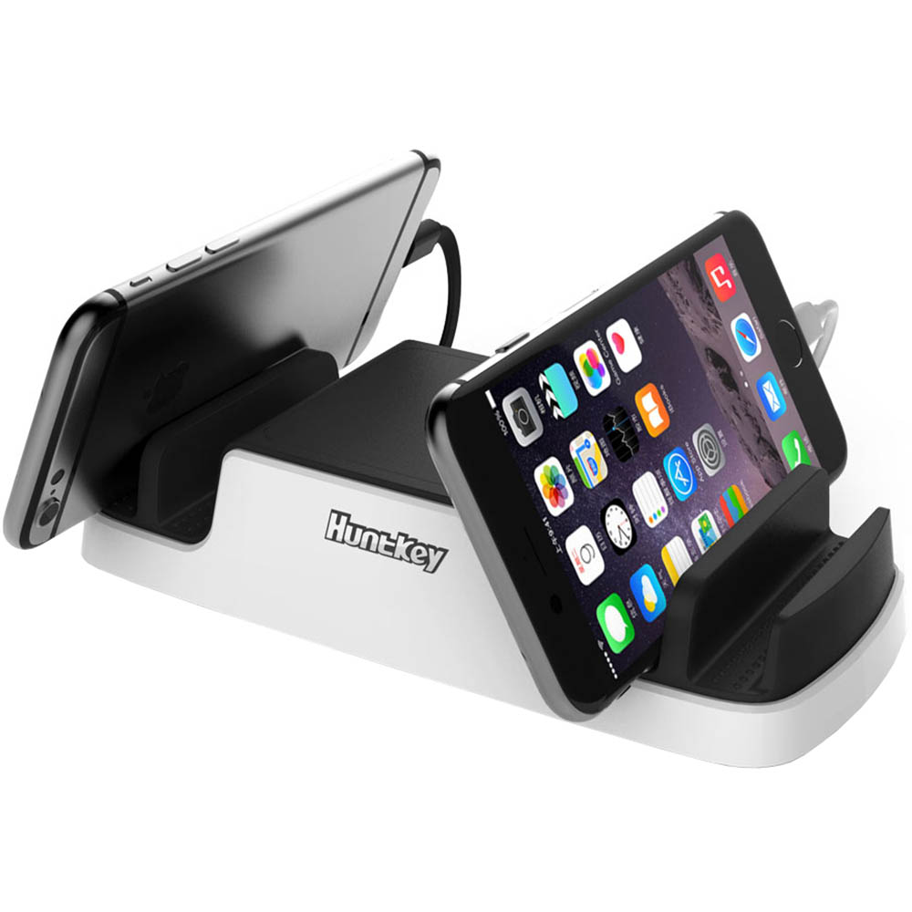 Image for HUNTKEY SMARTU 4-PORT 40W USB CHARGING DOCK BLACK/WHITE from Office National Perth CBD